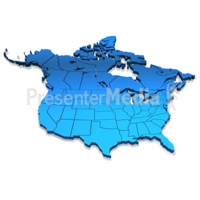 Map clipart for powerpoint svg library download North America Blue Map - Presentation Clipart - Great Clipart for ... svg library download