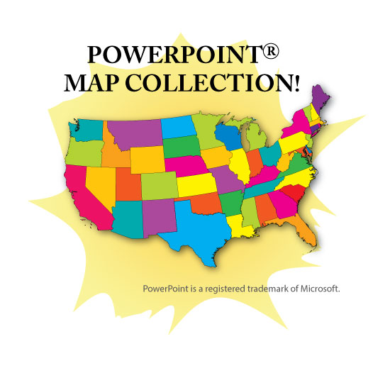 Map clipart for powerpoint picture free library PowerPoint Map Collection - USA, US States, Continents & Counties ... picture free library