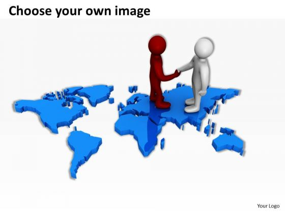 Map clipart for powerpoint image black and white stock Business People Clip Art On World Map PowerPoint Presentations ... image black and white stock