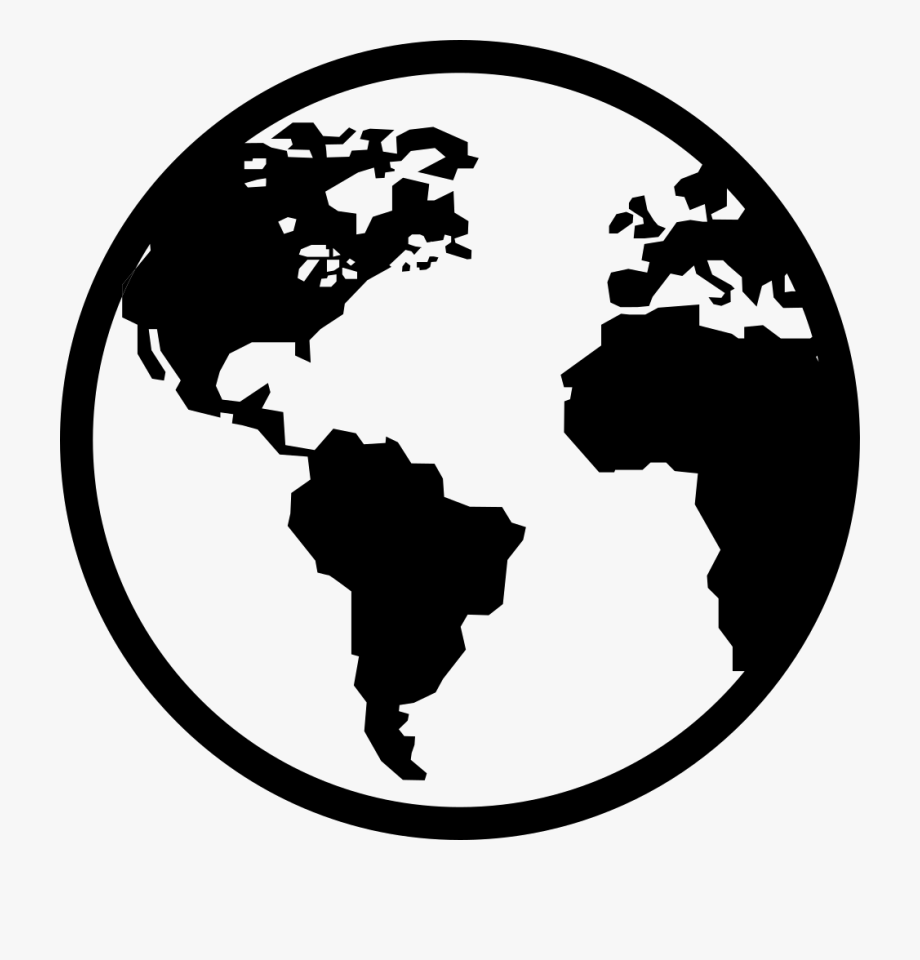 Map of earth clipart black and white royalty free download Earth Icon Png, Cliparts & Cartoons - Jing.fm royalty free download
