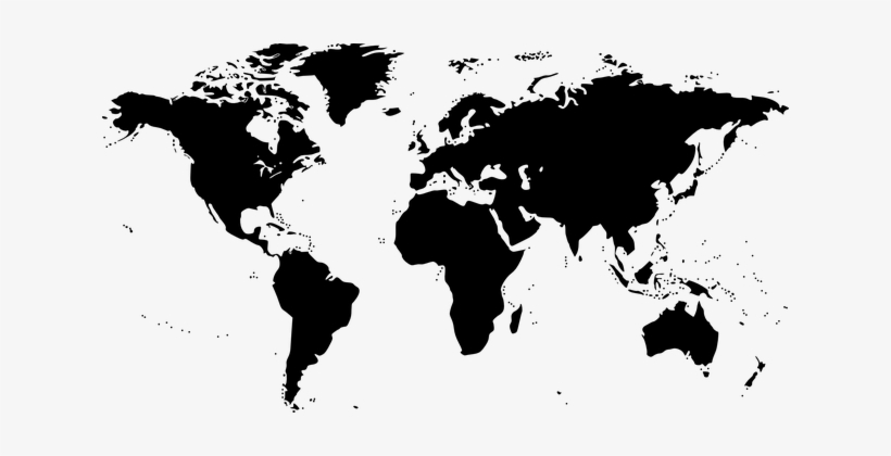 Map of earth clipart black and white clip art library download World Map Map World Black Earth Silhouette - World Map Clip Art ... clip art library download