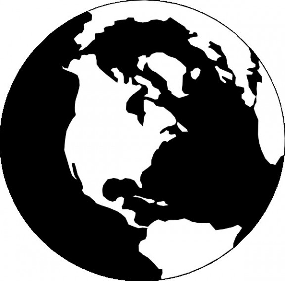 Map of earth clipart black and white vector stock World Map Clipart Black and White - climatejourney.org vector stock