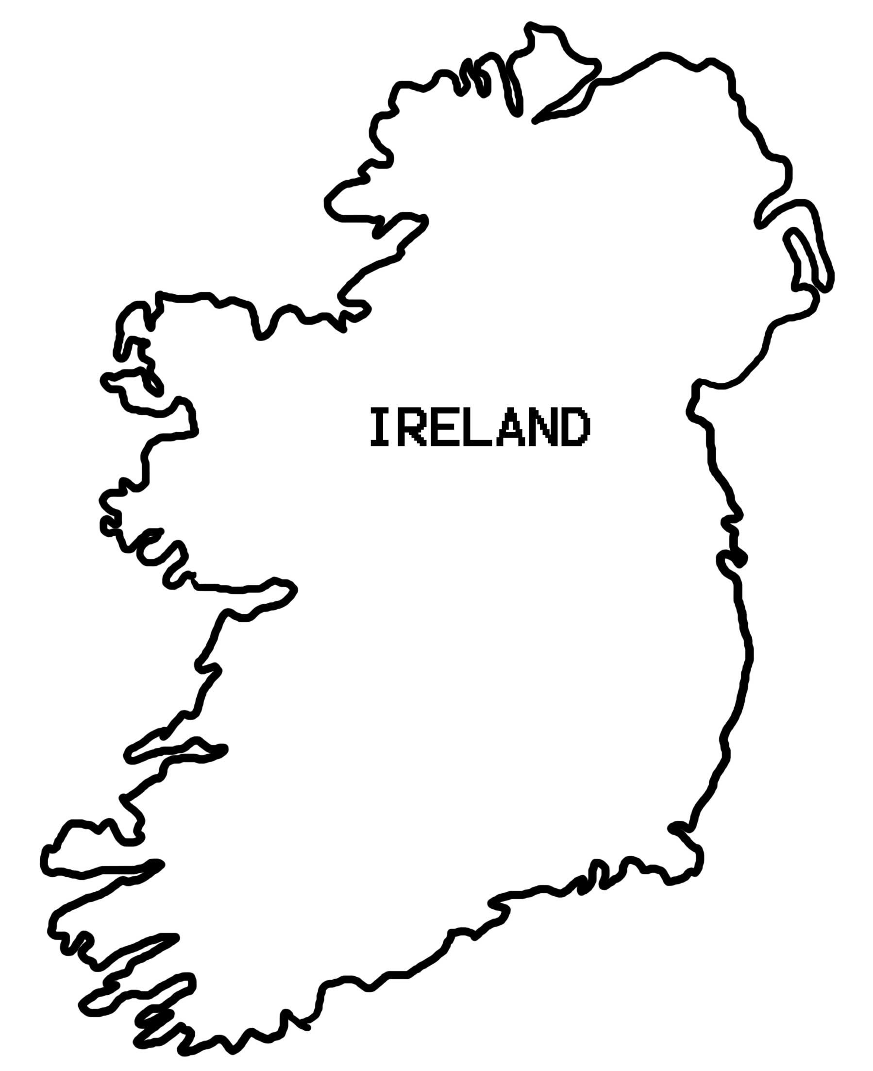Map of ireland clipart picture royalty free Pin by Melissa Bly on Craft Ideas | Ireland map, Map outline, Ireland picture royalty free