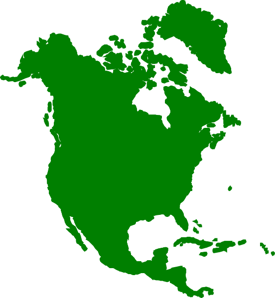 Map of north america clipart graphic black and white download North America Continent Clip Art | North America clip art - vector ... graphic black and white download