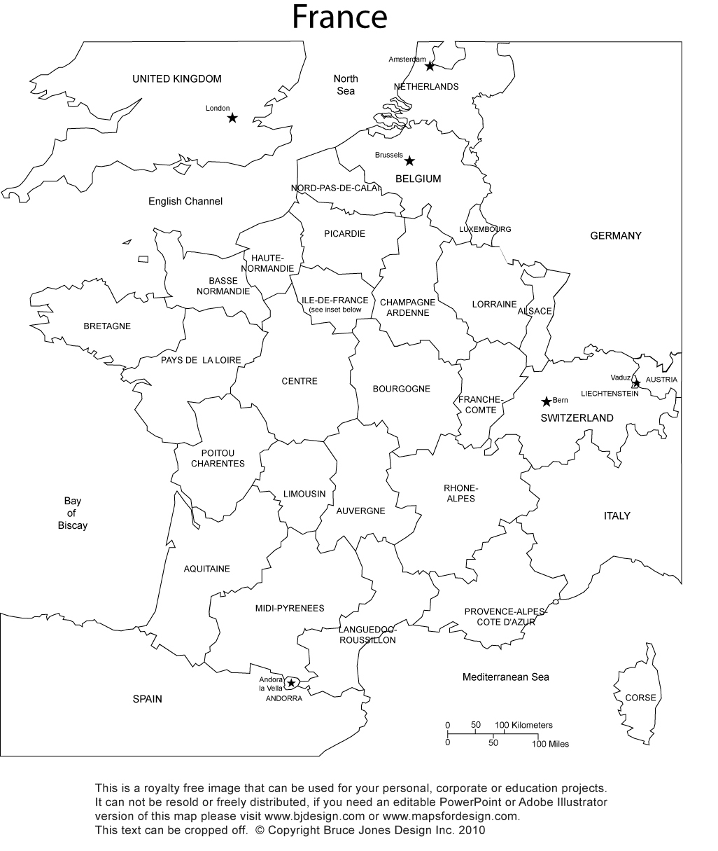 Map of paris clipart black and white clip art black and white stock France Map, Printable, blank, royalty free, jpg clip art black and white stock