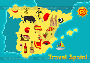 Map of spain clipart graphic transparent Map of Spain background design. Spanish - vector clipart graphic transparent