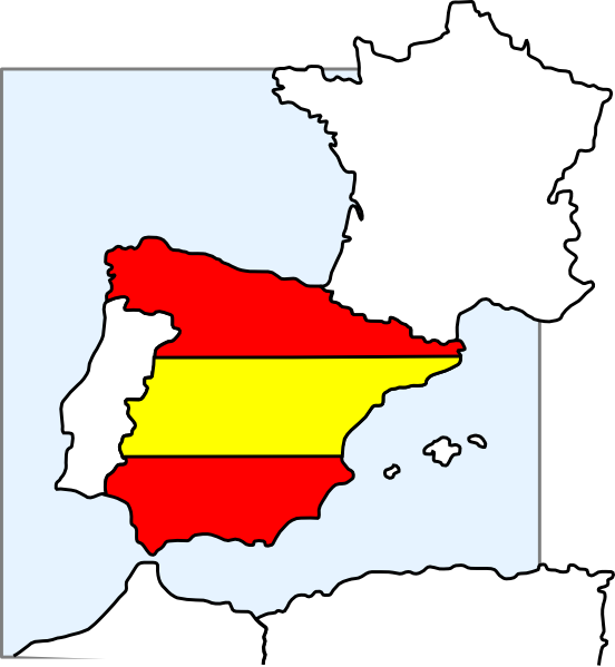 Map of spain clipart svg free Spain Map And Flag Clip Art at Clker.com - vector clip art online ... svg free