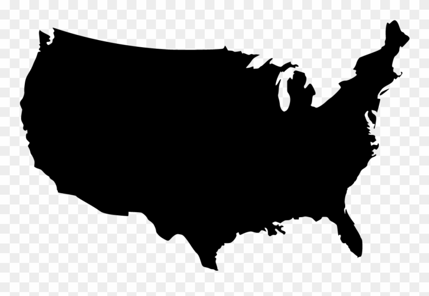 Map of the us clipart jpg library Malooaayush360@gmail - Com - United States Map Black Png Clipart ... jpg library