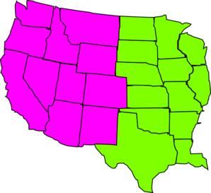 Map of western us clipart