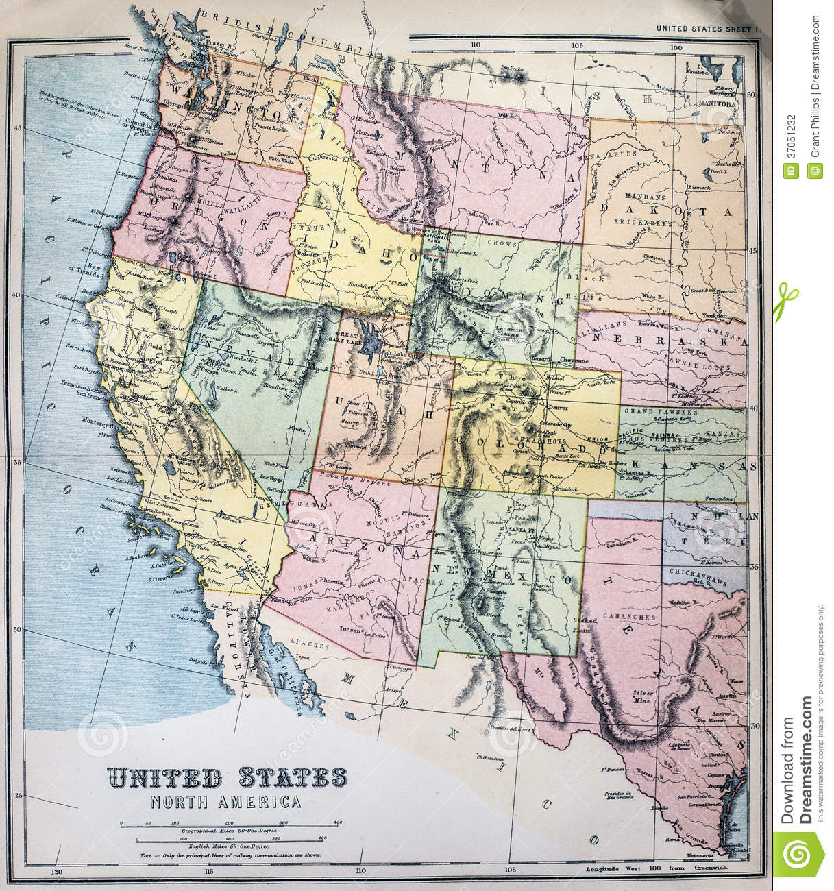 Map of western us clipart png library library western us map | Map of the World png library library