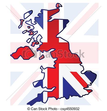 Map united kingdom clipart image transparent download Vector Illustration of United Kingdom map - Illustration of the ... image transparent download