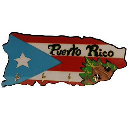 Mapa de puerto rico clipart stock Key Holder Puerto Rico Map Coqui stock