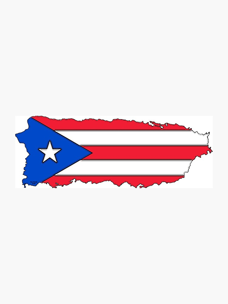 Mapa de puerto rico clipart svg transparent download Puerto Rico Map with Puerto Rican Flag | Photographic Print svg transparent download