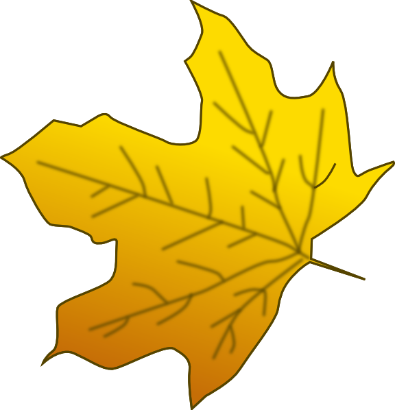 Maple tree clipart image freeuse library Yellow Maple Leaf Clip Art at Clker.com - vector clip art online ... image freeuse library