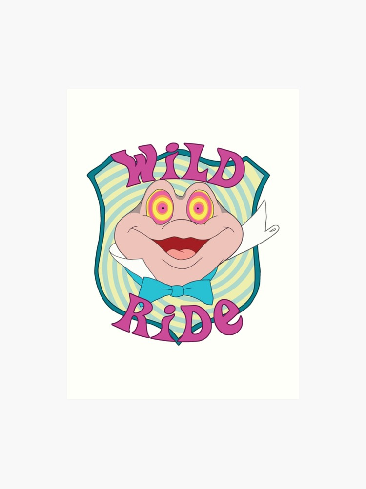 Mar riding on a big toad clipart svg transparent library Mr. Toad - Wild Ride | Art Print svg transparent library