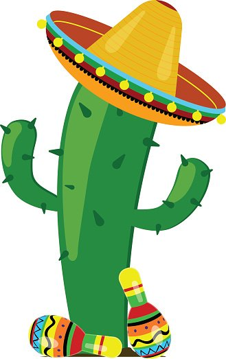 Maracas and sombrero clipart free stock Cactus Maracas IN A Sombrero stock vectors - Clipart.me free stock