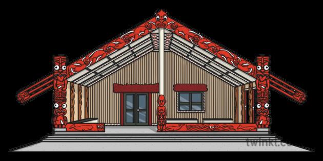 Marae clipart free Maori Marae Illustration - Twinkl free