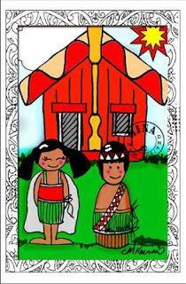 Marae clipart picture free stock Big marae with kids poster | New Zealand | Maori, Maori designs ... picture free stock