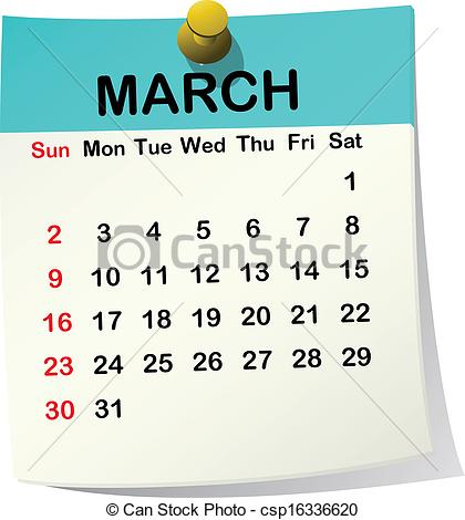 March 1 calendar page clipart png black and white library March cliparts png black and white library