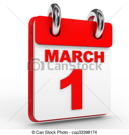 March 1 calendar page clipart banner black and white Metal calendar march 1 Illustrations and Clipart. 5 Metal calendar ... banner black and white
