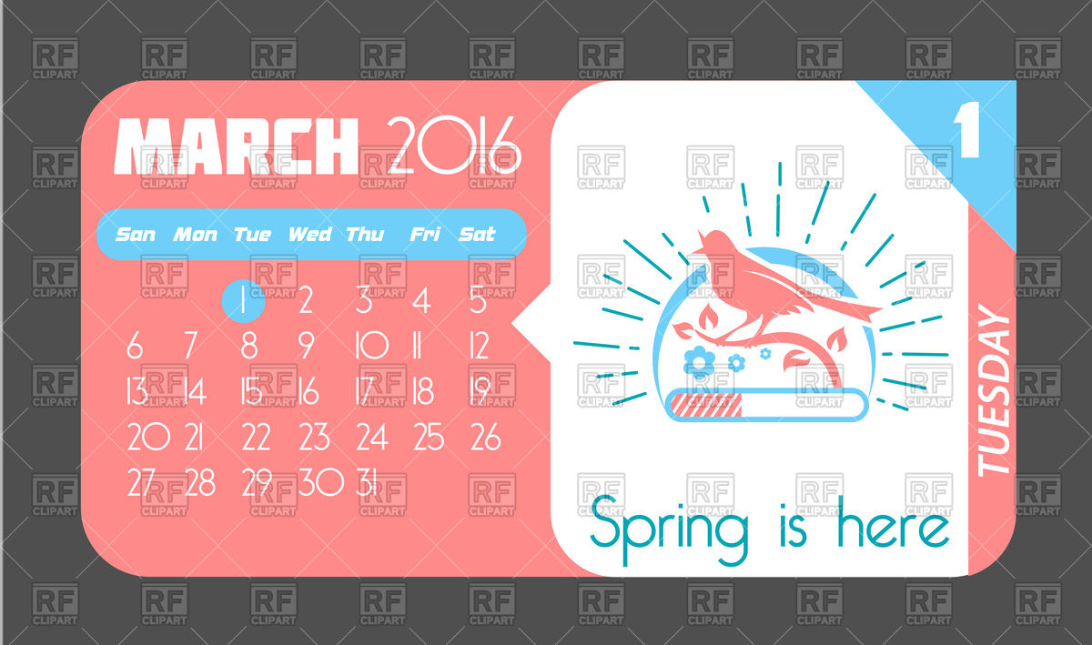 March 1 calendar page clipart jpg free download Free Premium Cliparts - ClipartFest jpg free download