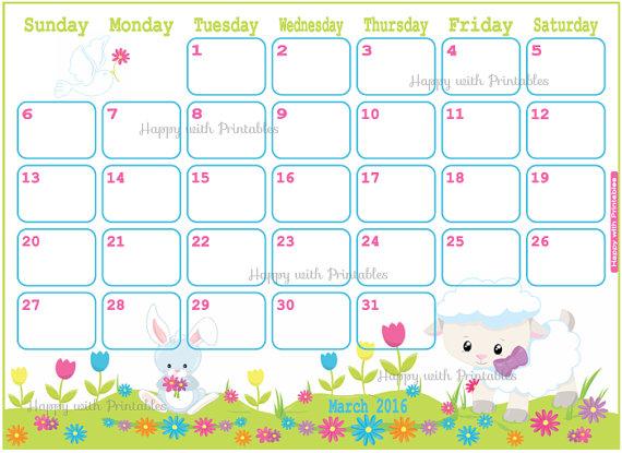 March 2016 calendar clipart clip art library download March 2016 Calendar Easter | free calendar 2017 clip art library download
