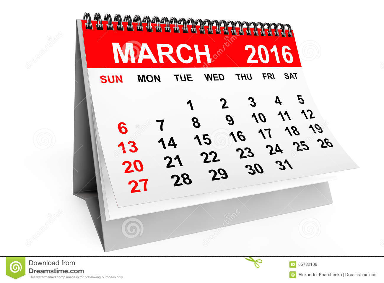 March 2016 calendar clipart vector freeuse stock Calendar March 2016 Stock Photos, Images, & Pictures - 1,511 Images vector freeuse stock