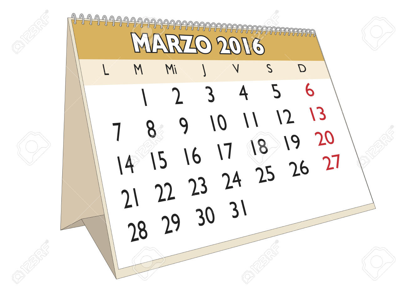 March calendar 2016 clipart banner black and white March Month In A Year 2016 Calendar In Spanish. Marzo 2016 ... banner black and white