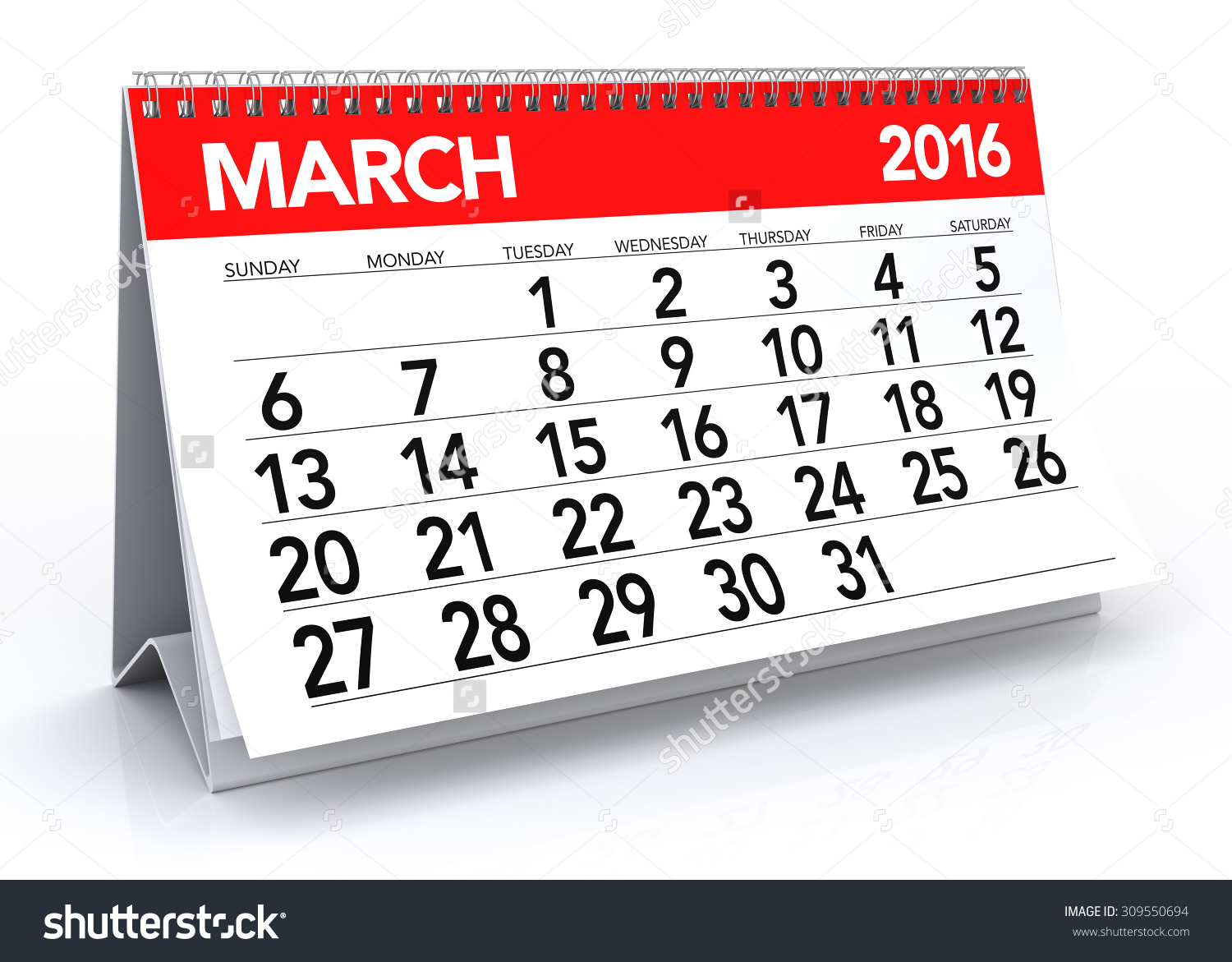 March calendar 2016 clipart png royalty free stock March 2016 Calendar. Isolated On White Background. 3d Rendering ... png royalty free stock