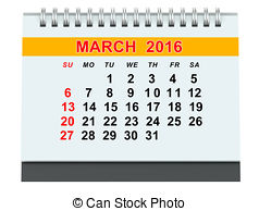 March calendar 2016 clipart clipart freeuse download Clip Art of March 2016 calendar - March 2016 monthly calendar on ... clipart freeuse download