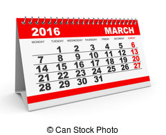 March calendar 2016 clipart picture royalty free library Clip Art of Calendar March 2016. - Calendar March 2016 on white ... picture royalty free library