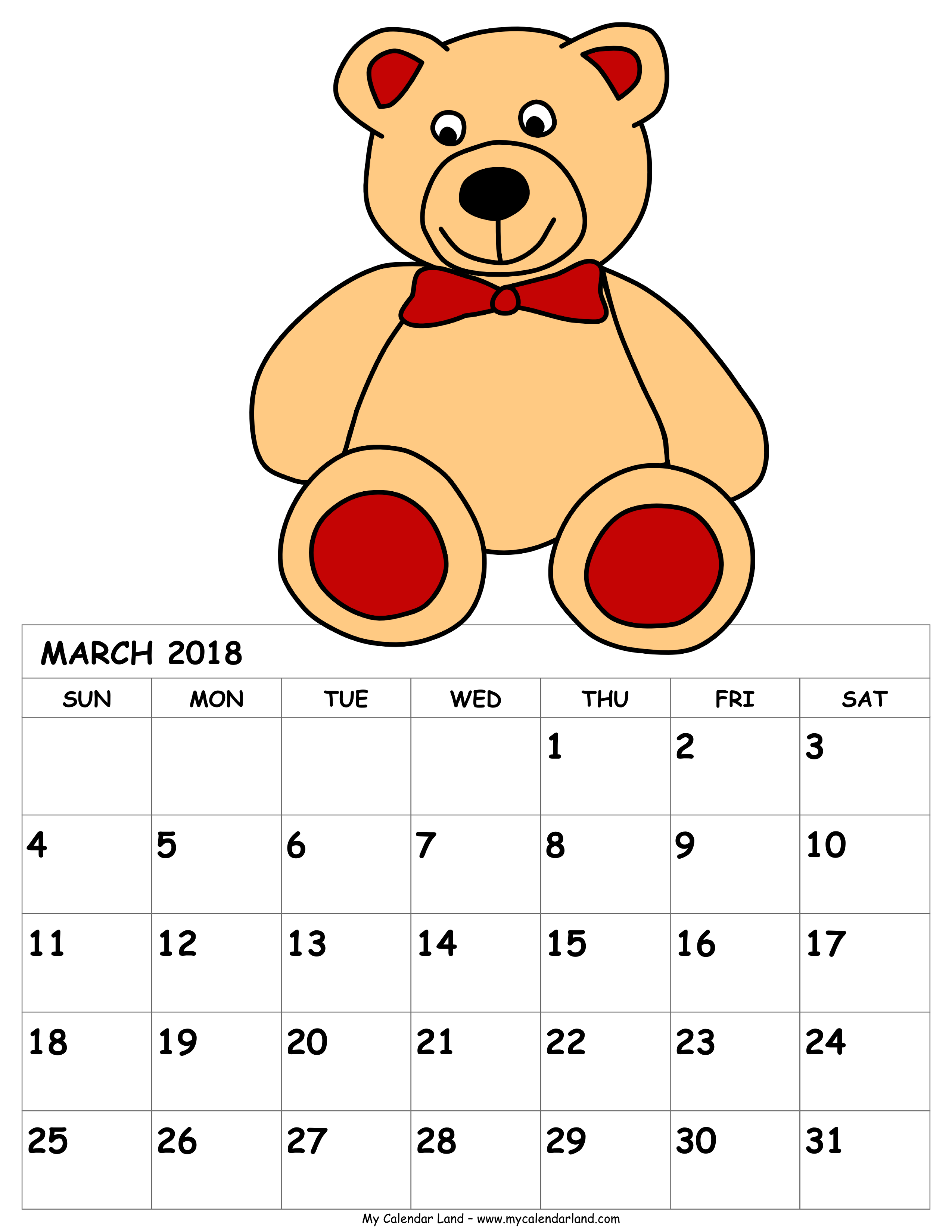 March calendar clip art banner library download March 2018 Calendar - My Calendar Land banner library download
