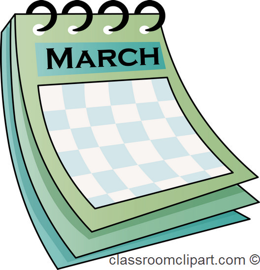 March church calendar clipart graphic black and white library March calendar clip art - ClipartFest graphic black and white library