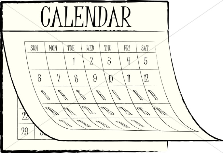 March church calendar clipart clip transparent library March Calendar Clipart Black And White image tips clip transparent library
