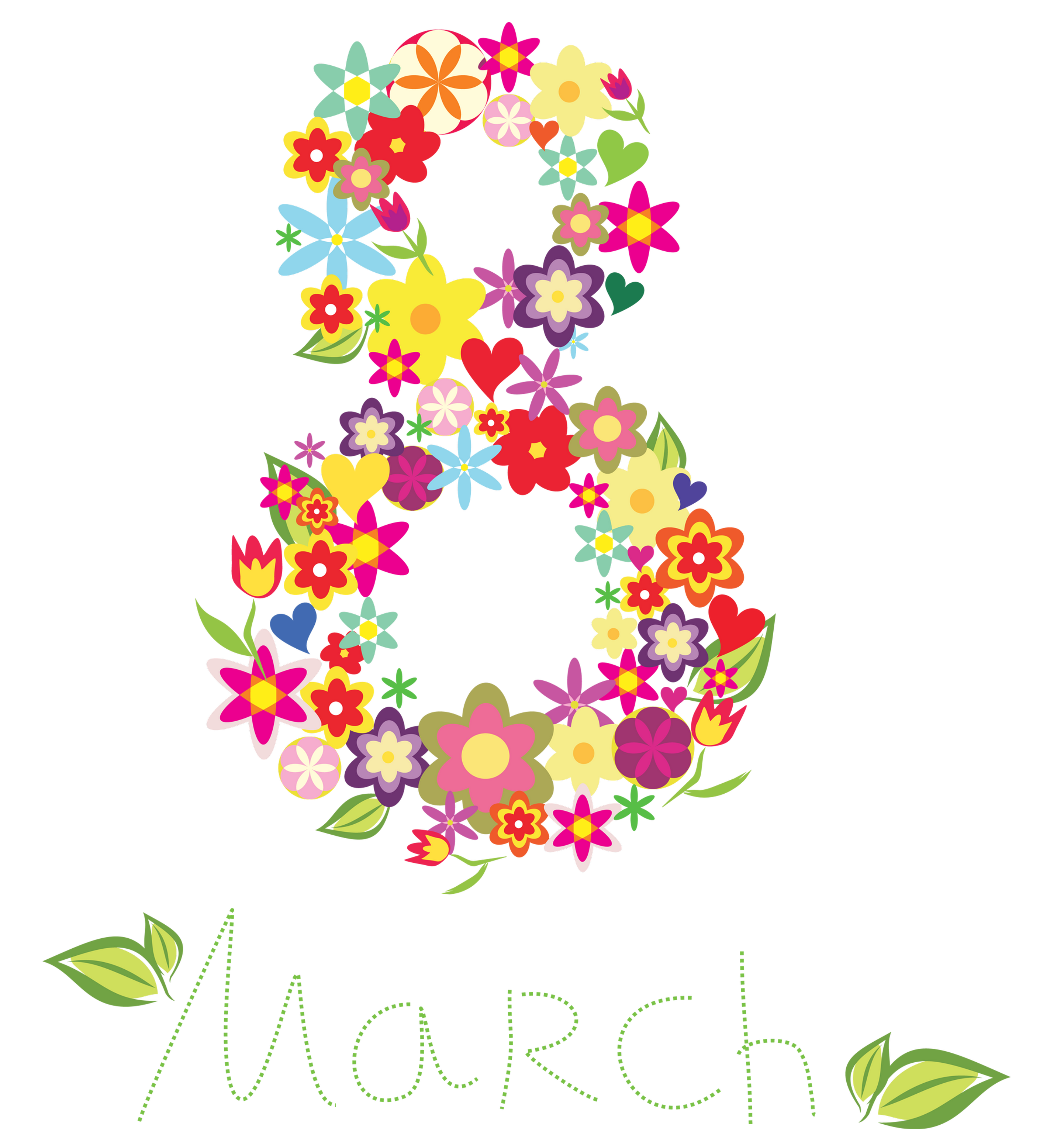 March flower clipart banner freeuse stock 8 March Floral Text Decor PNG Clipart | Gallery Yopriceville - High ... banner freeuse stock