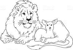 March lion and lamb clipart jpg transparent stock 13 Best lamb & lion images in 2017 | Lion, lamb, Clip art ... jpg transparent stock