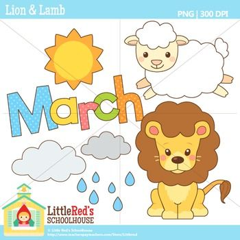March lion and lamb clipart jpg royalty free download March Clipart - Lion and Lamb | Teaching Things :)) | Lion ... jpg royalty free download