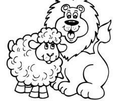 March lion and lamb clipart jpg black and white download March lion lamb clipart 4 » Clipart Portal jpg black and white download