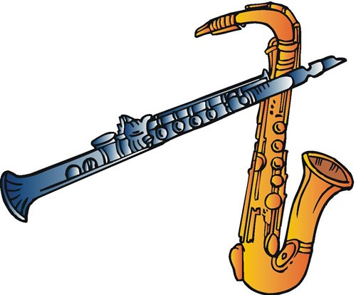 Marching band woodwinds clipart library Marching band instruments clipart 5 » Clipart Portal library