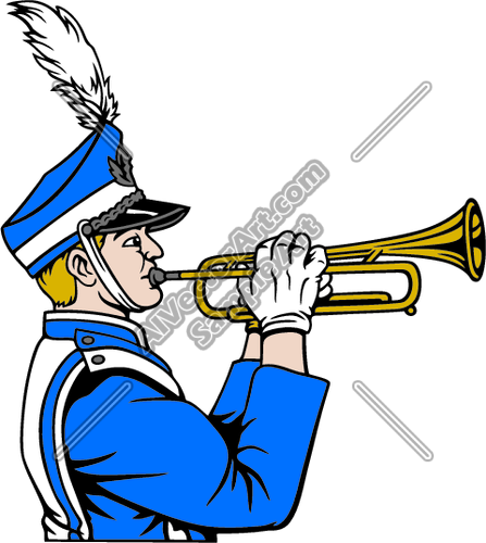 Marching band woodwinds clipart transparent Mrchband02V4CLR Clipart and Vectorart: Sports - Marching ... transparent