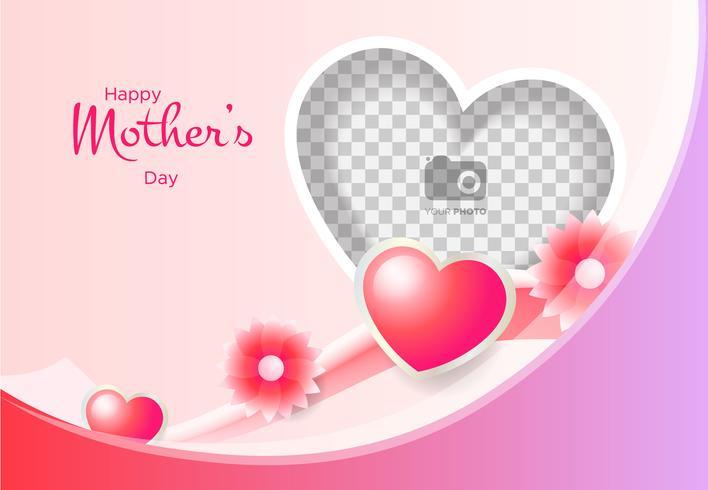 Marcos del dia de la madre clipart vector Marco fotográfico para el día de la madre. Vector ... vector