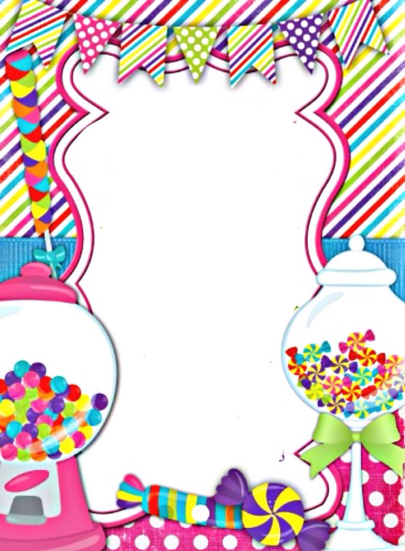 Marcos para fotos clipart cumpleanos png free stock Sweet Shop Border | Borders and Backgrounds | Marcos de ... png free stock