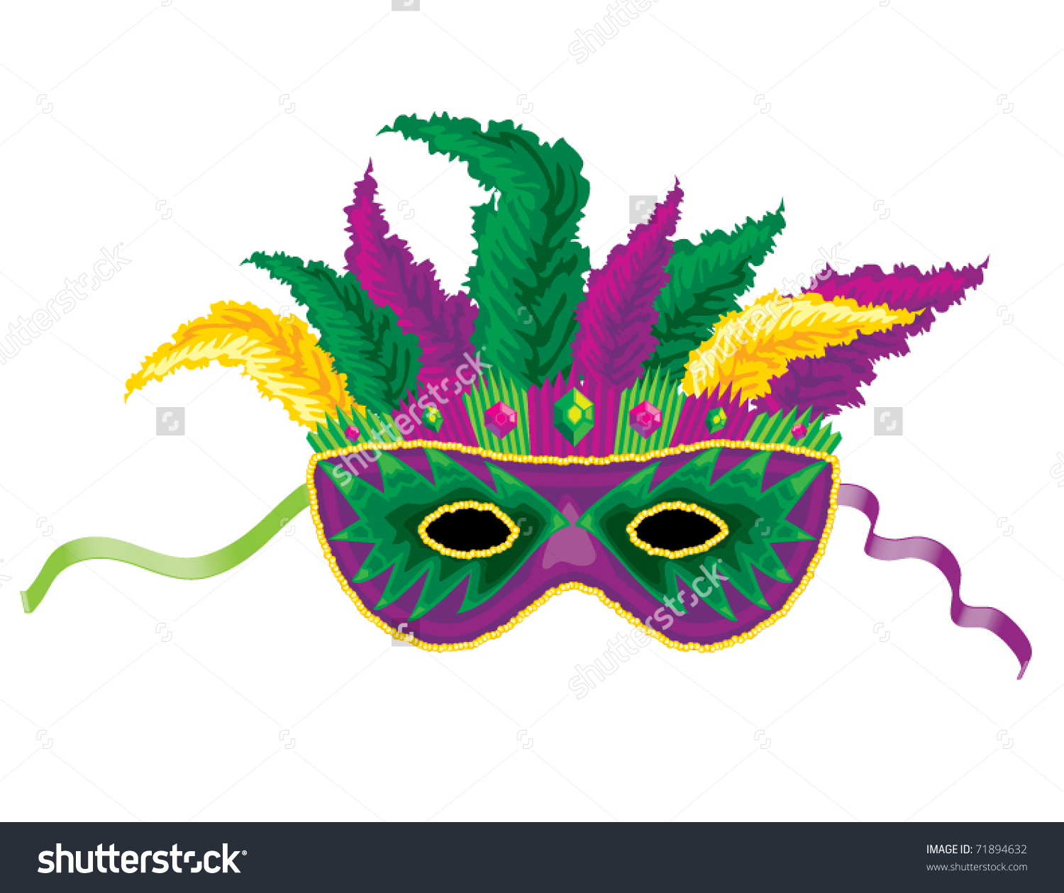 Mardi gras feathers clipart image library library Mardi Gras Mask Clipart Group with 50+ items image library library