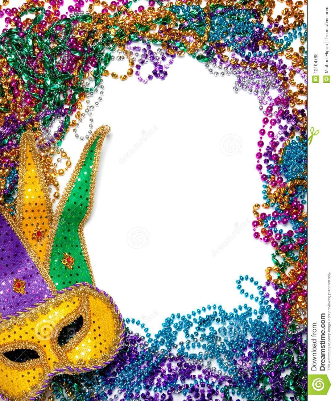 Mardi gras framesfree clipart colors banner black and white library Free Printable Mardi Gras Borders. Royalty Free Stock Photos ... banner black and white library