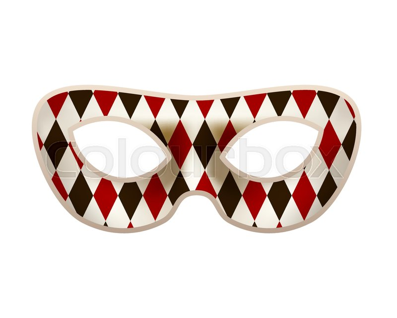 Mardi gras mask clipart black and white clown jpg free stock Bright masquerade mask with red and ...   Stock vector ... jpg free stock