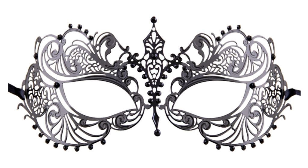 Mardis gras crown clipart black and white clip art free library BLACK Series Laser Cut Metal Venetian Pretty Womens Masquerade Mask clip art free library