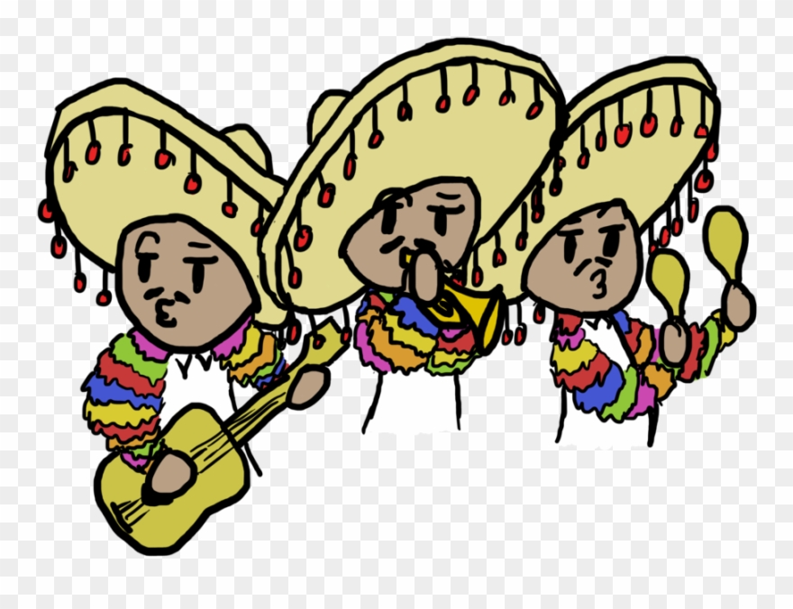 Mariachis clipart image black and white stock Mariachi Band For My French Project - Mariachi Band Easy ... image black and white stock
