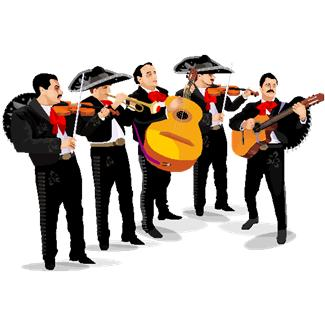 Mariachis clipart image black and white Mariachi Band Clipart | Free download best Mariachi Band ... image black and white