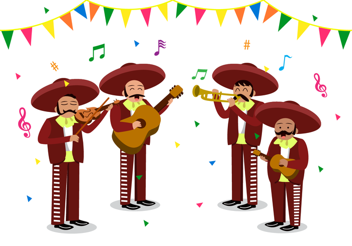 Mariachis clipart graphic black and white Free Mariachi Vector - Download Free Vectors, Clipart ... graphic black and white