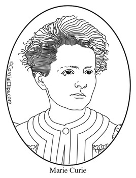 Marie curie clipart royalty free library Marie Curie Clip Art, Coloring Page or Mini Poster royalty free library